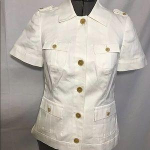 Banana Republic Ivory Lined Stretch Jacket Sz 0